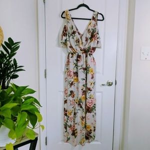 Maxi high low floral dress Charlotte Russe size S